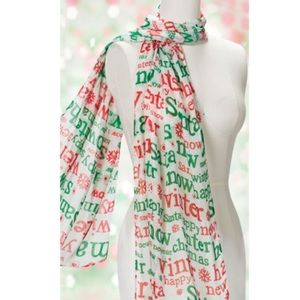 NWOT   Merry Christmas Holiday Scarf 🎅